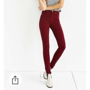 ••red high waisted jeans•• nwot